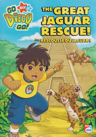 Go Diego Go! - The Great Jaguar Rescue (Bilingual) DVD Movie