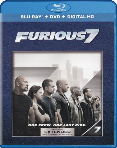 Furious 7 (Extended Edition) (Blu-ray + DVD + Digital HD) (Blu-ray) BLU-RAY Movie