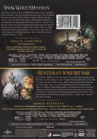 Snow White and the Huntsman / The Huntsman - Winter s War (2-Movie Collection Extended Versions) DVD Movie