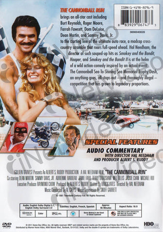 The Cannonball Run (Orange cover) DVD Movie