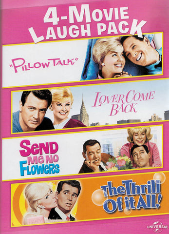 4-Movie Laugh Pack (Pillow Talk / Lover Come Back / Send Me No Flowers / The Thrill of It All) DVD Movie