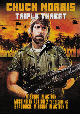 Chuck Norris: Triple Threat - Missing In Action / Missing In Action 2: The Beginning / Braddock: Mis DVD Movie