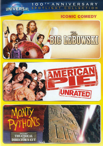 The Big Lebowski / American Pie / Monty Python s The Meaning of Life (100th Anniversary Spotlight Co DVD Movie