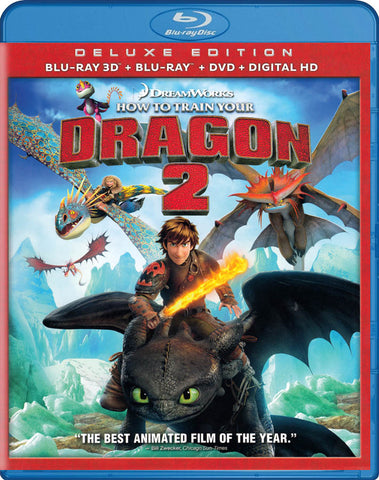 How to Train Your Dragon 2 (Deluxe Edition) (Blu-ray 3D + Blu-ray + DVD + Digital HD) (Blu-ray) BLU-RAY Movie