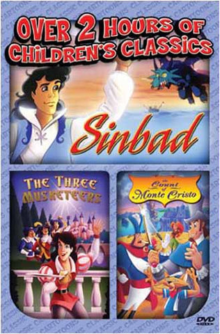 Sinbad/The Three Musketeers/Count Monte Cristo DVD Movie