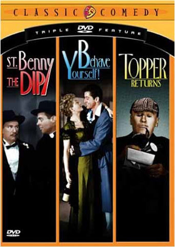 Classic Comedy Triple Feature, Vol. 2 - St. Benny the Dip / Behave Yourself / Topper Returns DVD Movie