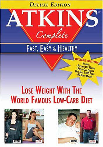 Atkins Complete - Fast, Easy & Healthy (Deluxe English Edition) DVD Movie