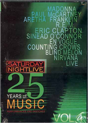 Saturday Night Live - 25 Years of Music - Vol. 4 DVD Movie