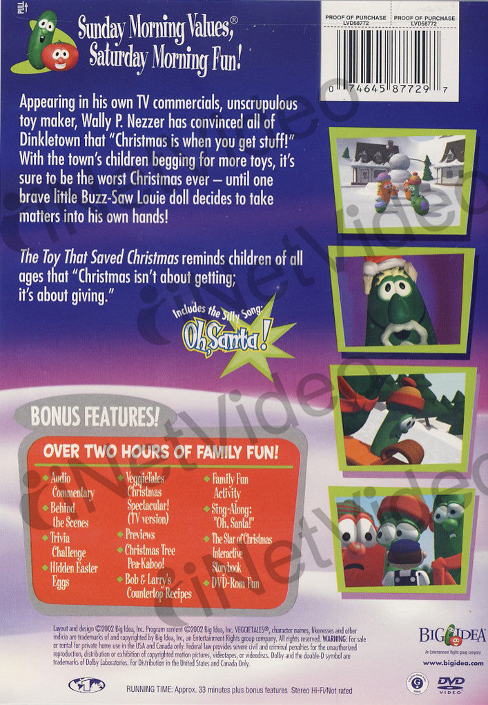 VeggieTales - The Toy That Saved Christmas on DVD Movie