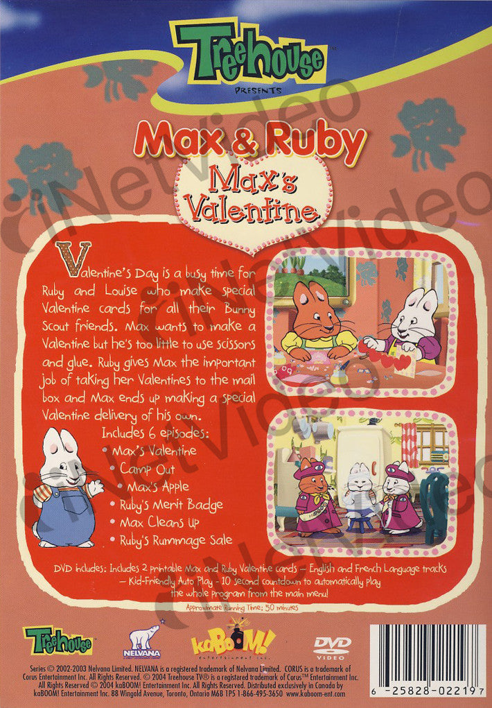 Max And Ruby Max S Valentine On Dvd Movie