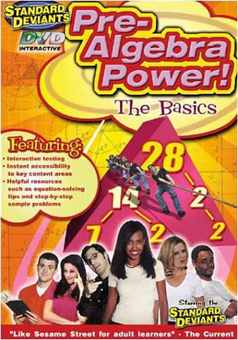 Standard Deviants - Pre-Algebra Power (Learning Pre-Algebra The Basics) DVD Movie