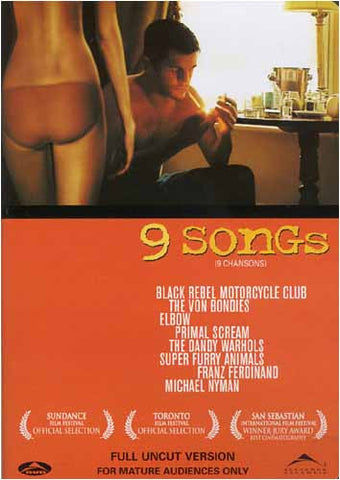 9 songs - Unrated Full Uncut Version (Bilingual) DVD Movie
