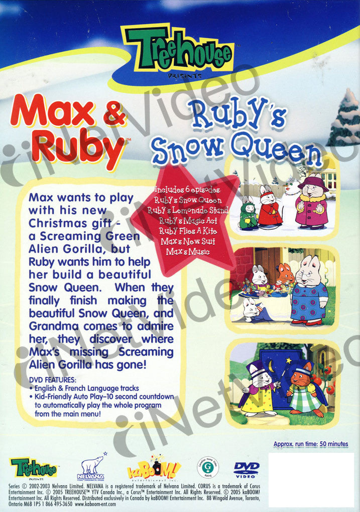 Max And Ruby Ruby S Snow Queen On Dvd Movie