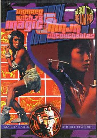 Monkey With 72 Magic / Ninja Untouchables DVD Movie