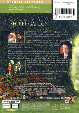 Back To The Secret Garden DVD Movie