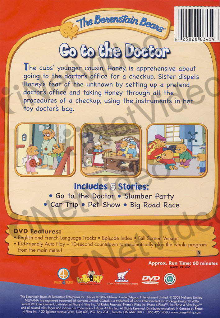 The Berenstain Bears - Go to the Doctor on DVD Movie
