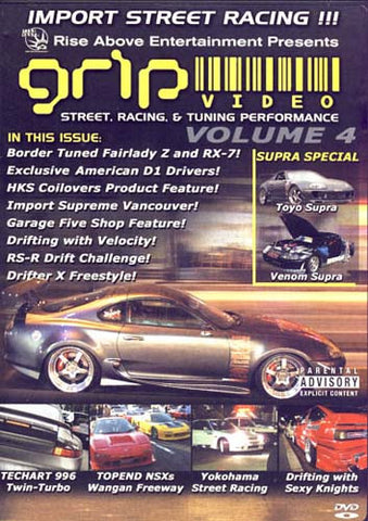 Grip Video -Street,Racing And Tunning PerfomanceVol. 4 DVD Movie