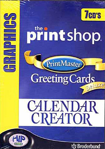 The Printshop/Print Master: Greeting Cards DELUX/Calendar Creator (7cd's) (PC) PC Game
