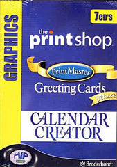 The Printshop/Print Master: Greeting Cards DELUX/Calendar Creator (7cd's) (PC)