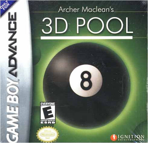 Archer Maclean's 3D Pool (GAMEBOY ADVANCE) GAMEBOY ADVANCE Game