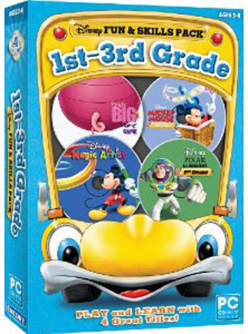 Disney Fun And Skills Pack 1st-3rd Grade (Bilingual Cover) (PC) PC Game