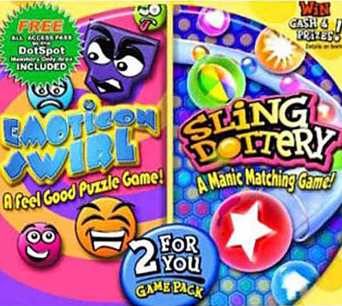 Emoticon Swirl / Sling Dottery (Jewel Case) (PC) PC Game
