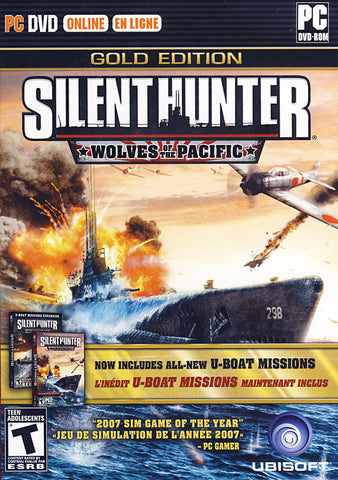 Silent Hunter IV - Wolves of the Pacific Gold Edition (Bilingual Cover) (PC) PC Game