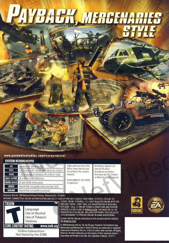 Mercenaries 2 world in flames limit 1 per client pc on pc game mercenaries 2 world in flames limit 1 per client pc pc altavistaventures Choice Image