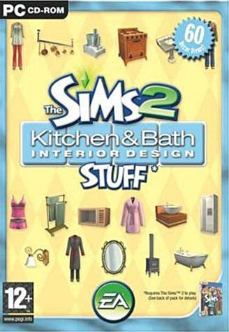 Les Sims 2 - Kit Cuisine et Salle de Bain Design (French Version Only) (PC) PC Game