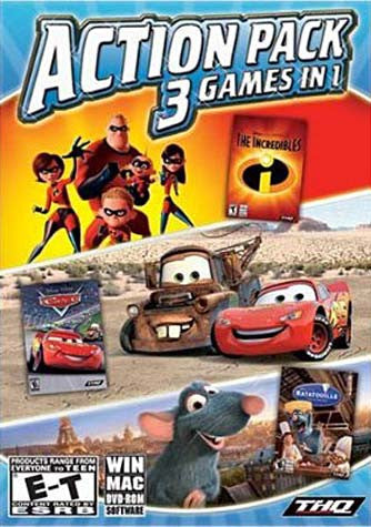 Disney Pixar Collection - 3 Games in 1 (Incredibles / Cars / Ratatouille) (WIN & MAC) (PC) PC Game