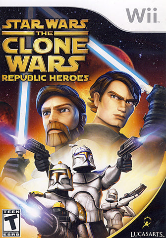 Star Wars the Clone Wars - Republic Heroes (NINTENDO WII) NINTENDO WII Game