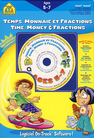 Time, Money & Fractions/ Temps, Monnaie Et Fractions 5-7 Ages (PC) PC Game