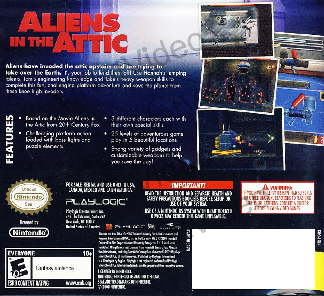 Aliens In The Attic Ds On Ds Game