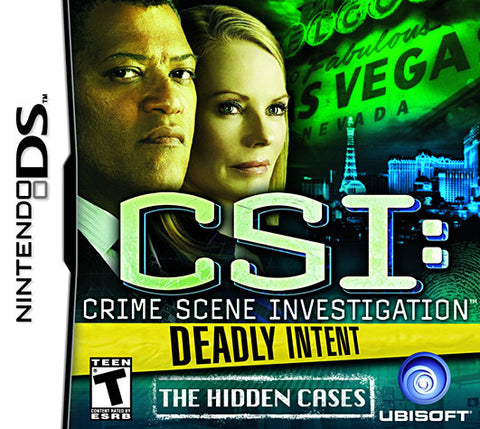 CSI: Deadly Intent - The Hidden Cases (DS) DS Game