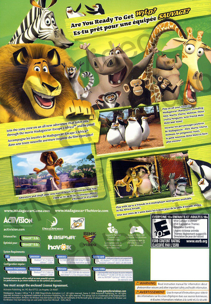 Madagascar 2 Escape 2 Africa Pc On Pc Game