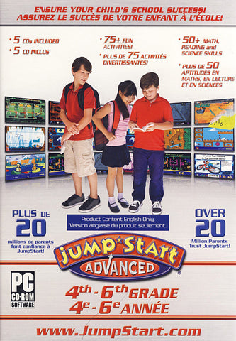 JumpStart Advanced - 4th-6th Grade (Limit 1 copy per client) (PC) PC Game