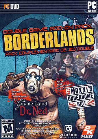 Borderlands -  The Zombie Island of Dr. Ned, Mad Moxxi s Underdome Riot add-ons (PC) PC Game