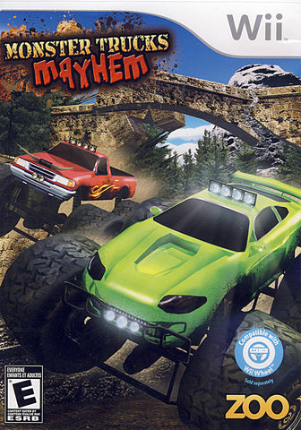 Monster Trucks Mayhem (NINTENDO WII) NINTENDO WII Game