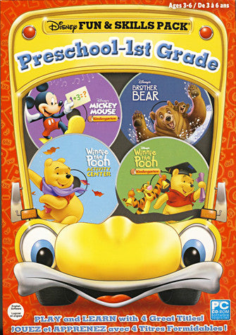 Disney Fun & Skills Preschool 1st Grade (Ages 3-6) (Limit 1 per Client) (PC) PC Game