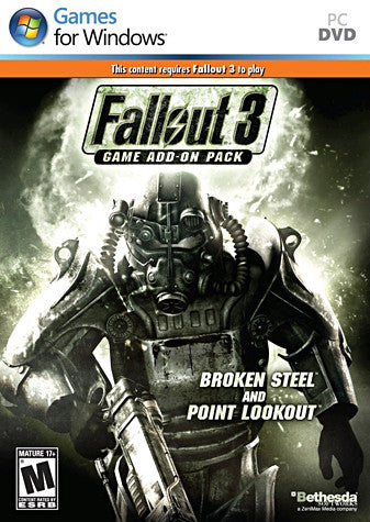 Fallout 3 Game Add-On Pack - Broken Steel and Point Lookout (PC) PC Game