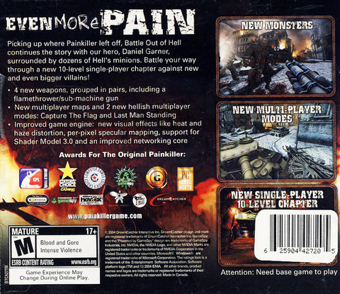 Painkiller- Battle Out of Hell (Expansion Pack) (PC) PC Game