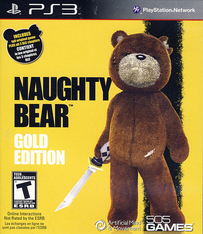 Naughty Bear Gold Edition (PLAYSTATION3) PLAYSTATION3 Game
