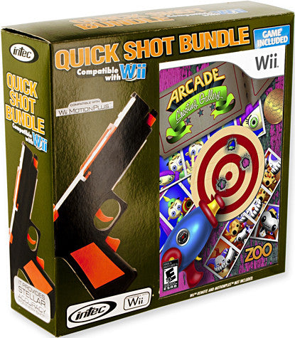 Nintendo Wii Quick Shot Bundle (Includes Arcade Shooting Gallery) (Intec) (NINTENDO WII) NINTENDO WII Game