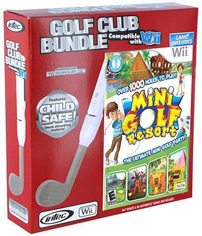 Nintendo Wii Golf Club Bundle (Includes Mini Golf Resort) (Intec) (NINTENDO WII) NINTENDO WII Game