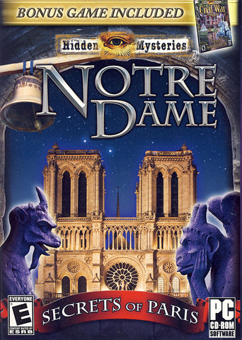 Hidden Mysteries Notre Dame - Secrets In Paris (Bonus Game: Civil War) (PC) PC Game