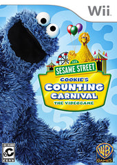 Sesame Street - Cookie s Counting Carnival + Remote Cover (NINTENDO WII)