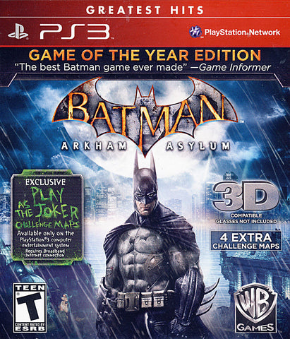 Batman Arkham Asylum - Game of the Year (PLAYSTATION3) PLAYSTATION3 Game