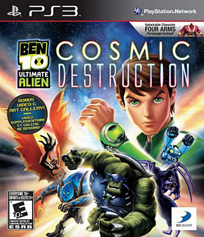 Ben 10 - Ultimate Alien Cosmic Destruction (PLAYSTATION3) PLAYSTATION3 Game