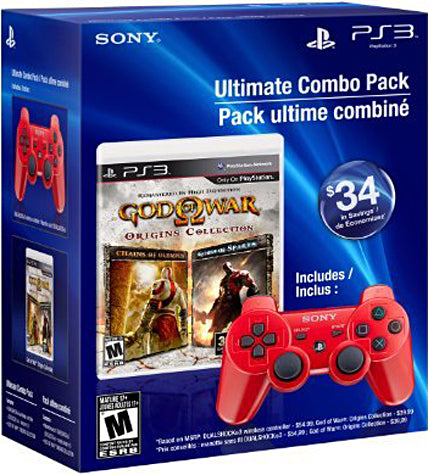 Ultimate Combo Pack God of War Origins Collection & Red DUALSHOCK3 Wireless Controller (PLAYSTATION3) PLAYSTATION3 Game