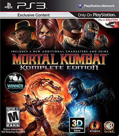 Mortal Kombat - Komplete Edition (PLAYSTATION3) PLAYSTATION3 Game